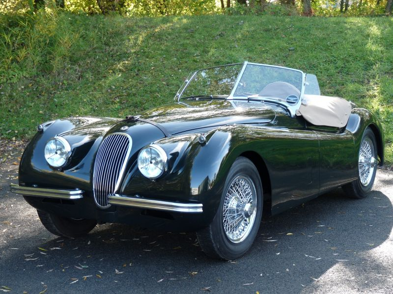 jaguar xk 120 roadster 3 4 ots